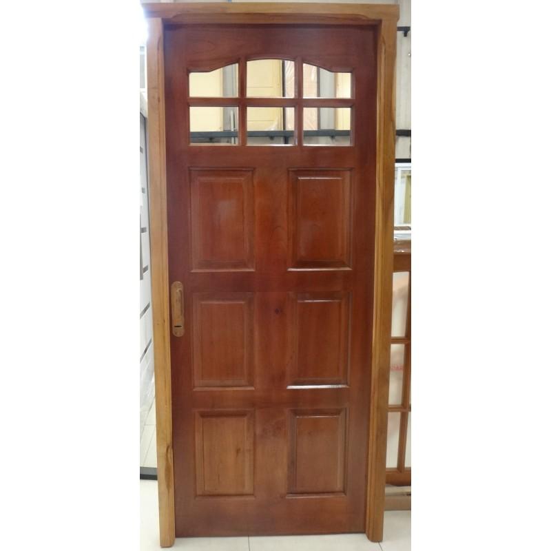 Como barnizar una puerta great block dprv fresado sobre madera maciza roble barnizado with como - Como barnizar una puerta de madera ...