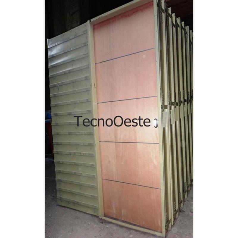 Puerta corrediza embutir 70 0 cedro 70 cm apliques aluminio for Puerta corrediza de madera
