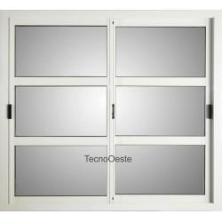 ventana aluminio blanco repartido horizontal x