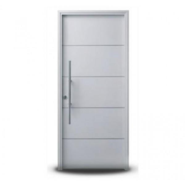 Puerta Oblak Moderna 1283 Blanca 90x200 con barral