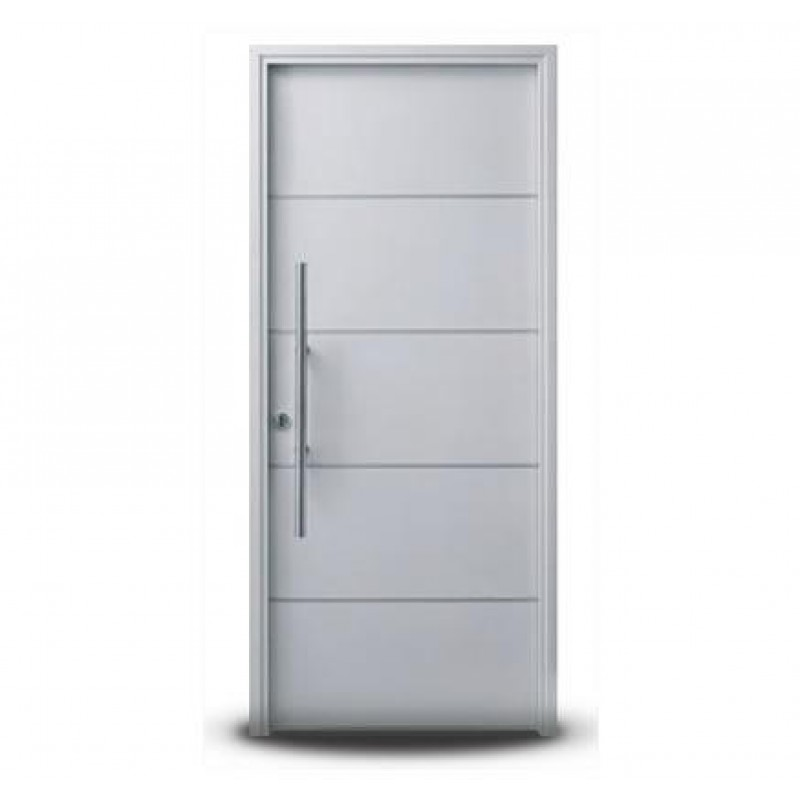 Puerta oblak moderna 1283 blanca 90x200 con barral for Puertas blancas modernas