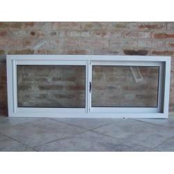 ventana aluminio blanco x con vidrio