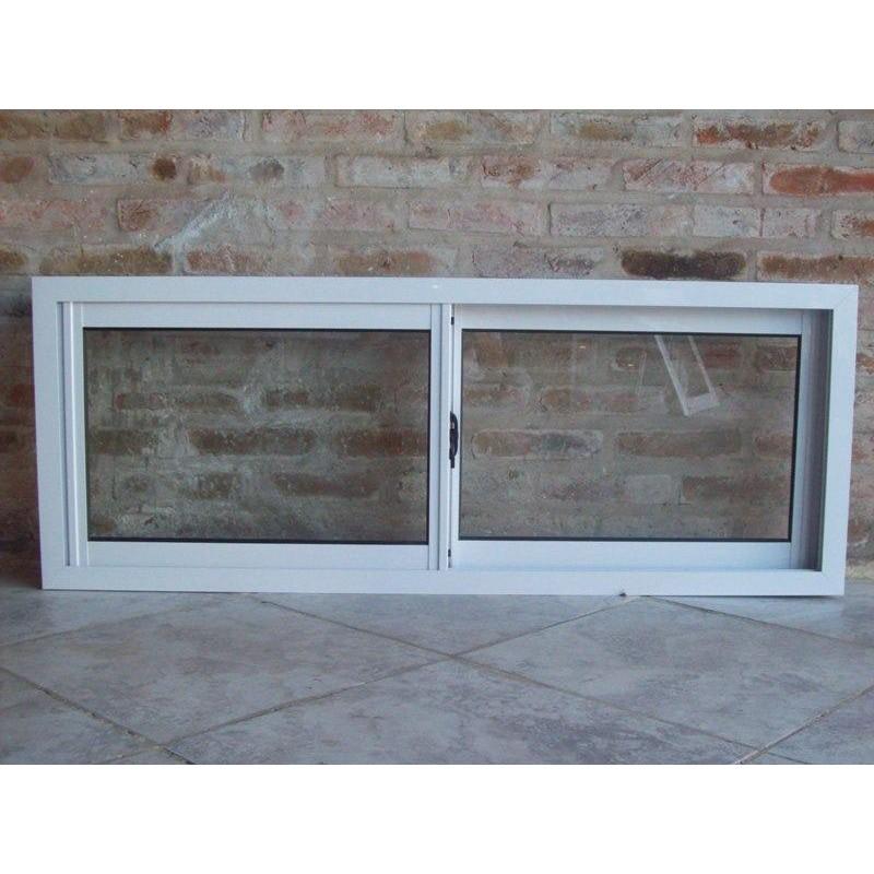 Ventana aluminio blanco 120x40 con vidrio for Ventanas de aluminio economicas