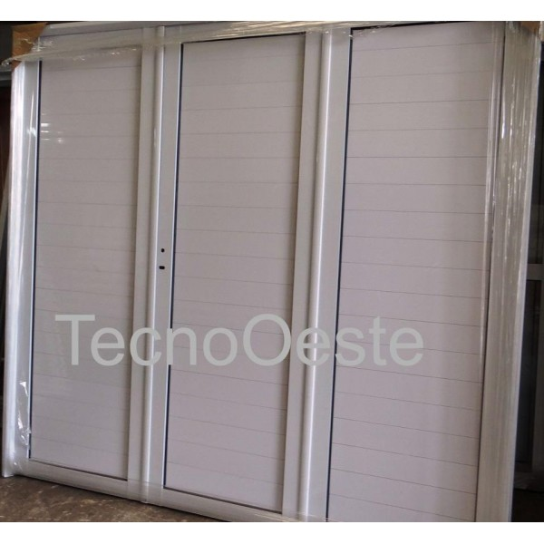 Porton Garage Aluminio Ciego 240x200 Cerradura