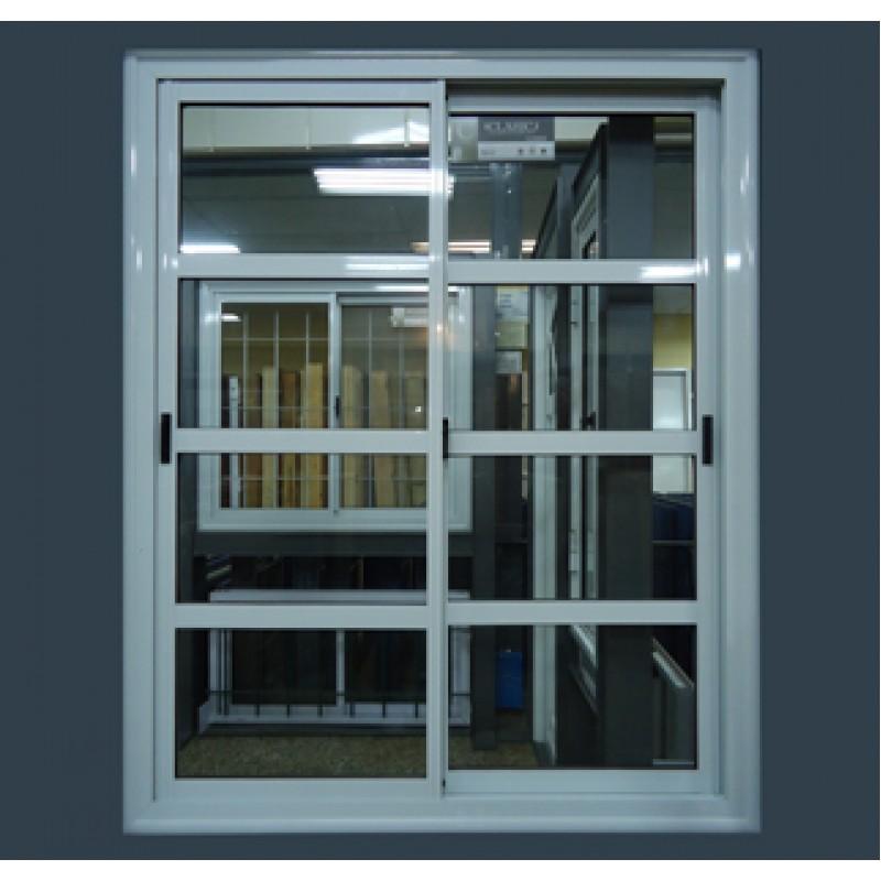 Puerta ventana balc n 150x200 vidrio repartido horizontal for Puerta ventana de aluminio corrediza