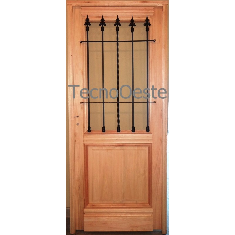 puerta madera grandis x vidrio colonial maciza excelent