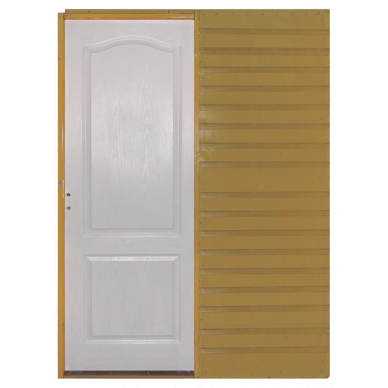 Puerta corrediza embutir 70 craftmaster blanca for Puerta corrediza de madera