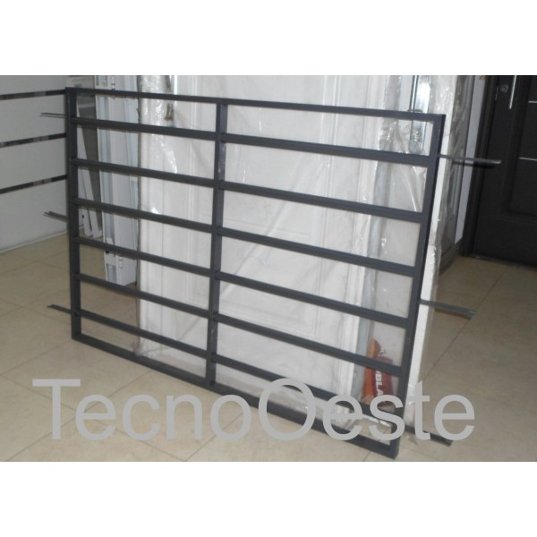 Reja Seguridad Tubos Horizontales para 150x110