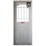 Puerta Atex 1/2 Reja 80x200 Cm.