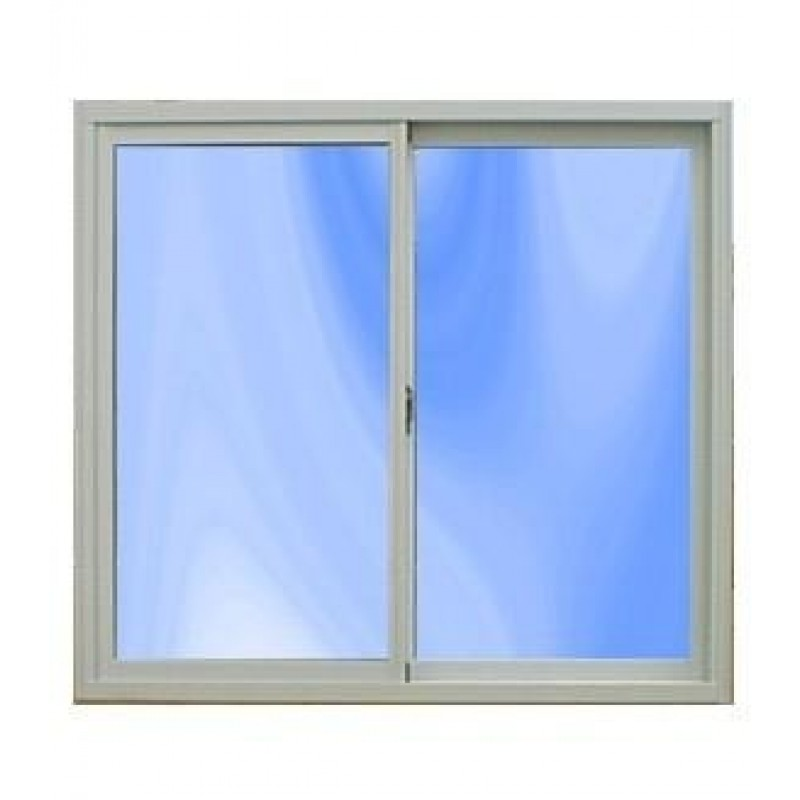 Ventana aluminio blanco 120x110 con vidrio for The ventana