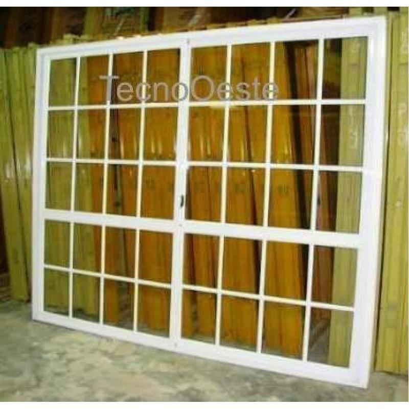 Puerta ventana balc n 240x200 vidrio repartido for Puerta balcon pvc