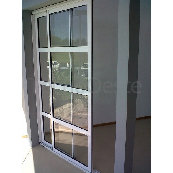 Ventana modena balcon rep horizontal 240x200 con dvh for Barandales de aluminio blanco