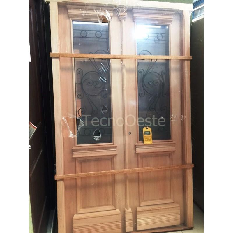 Puerta doble madera carpincruz colonial 130x220 cm for Puerta doble madera