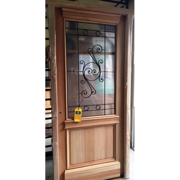 Puerta madera carpincruz antigua colonial buenos aires 90 cm for Puertas coloniales antiguas