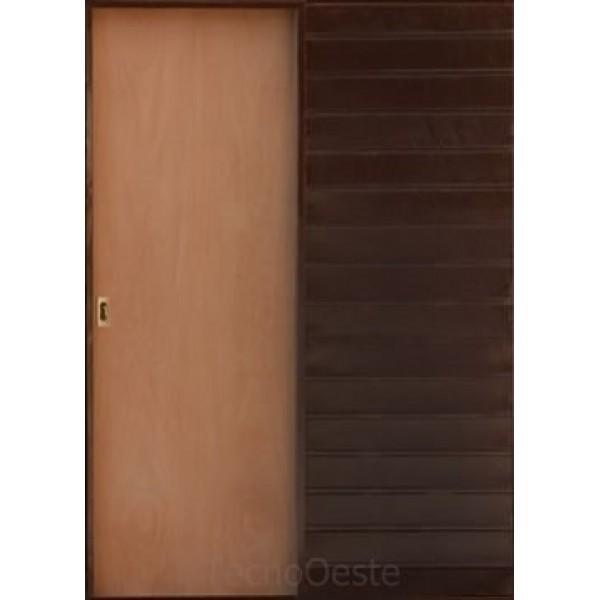 Puerta corrediza embutir 80 cm cedro for Puerta corrediza pvc