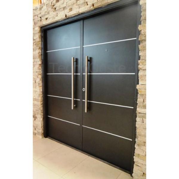 Puerta doble 160x200 de abrir oblak 1783 grafito for Puertas dobles de madera exterior