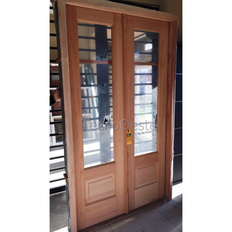 Puerta doble madera carpincruz 3 4 entero 120x215 cm for Puerta doble madera