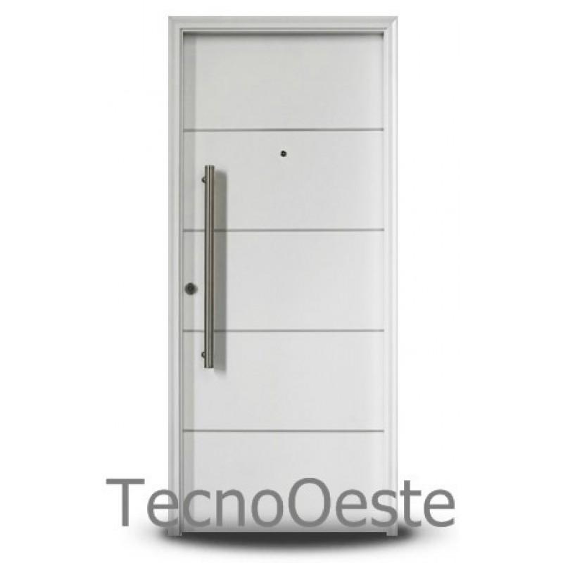 Puerta de seguridad oblak multipunto 1783b blanca 90x200 cm for Puertas seguridad
