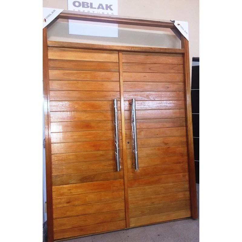 Puerta doble hoja oblak madera 2331 pa o fijo superior for Puerta doble madera