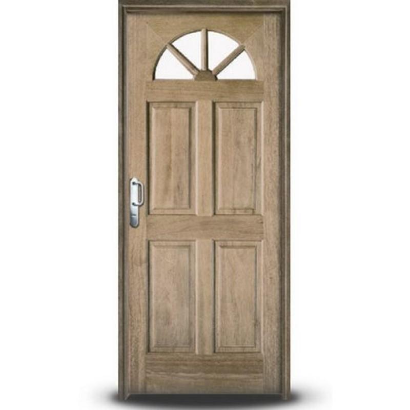 Oferta puerta oblak madera 80x200 cedro modelo 2678 for Puertas en madera para exteriores