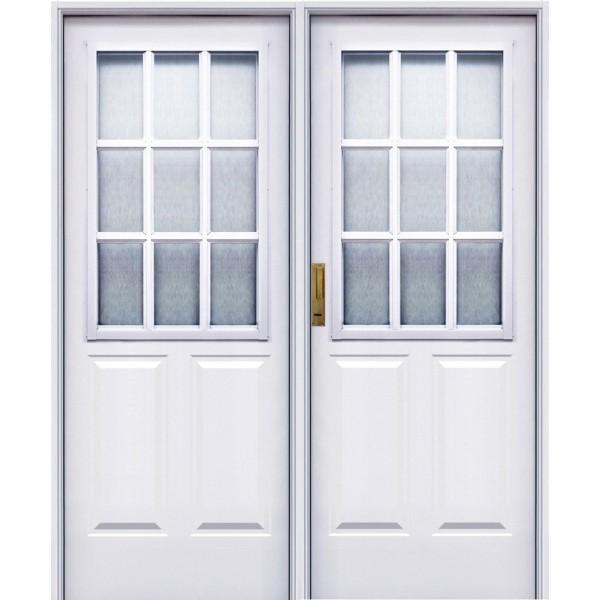 Puerta doble pavir 1 2 vidrio repartido epoxy 160x200 - Puertas doble hoja ...