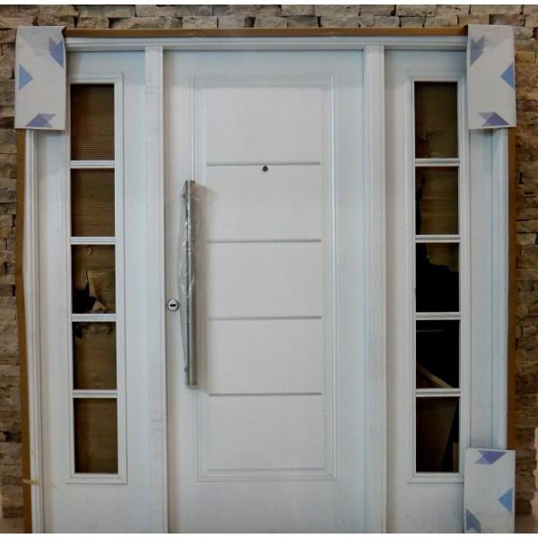 Portada oblak inyectada galvanizada 1719 blanca con 2 - Puertas de chapa galvanizada precios ...