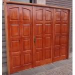 "Portón Garage Exterior Cedro Macizo 2"" Marco Madera Abrir"
