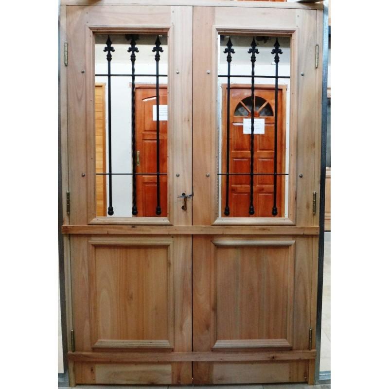 Puerta doble maciza 130x200 colonial - Tipo de madera para exterior ...