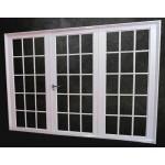 Porton Aluminio blanco Todo Vidro Repartido 240x200 cm