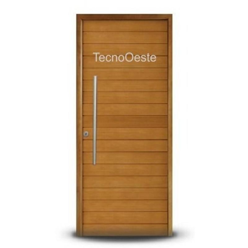 Puerta madera oblak 2331 90x200 cm con barral for Puertas de madera en oferta