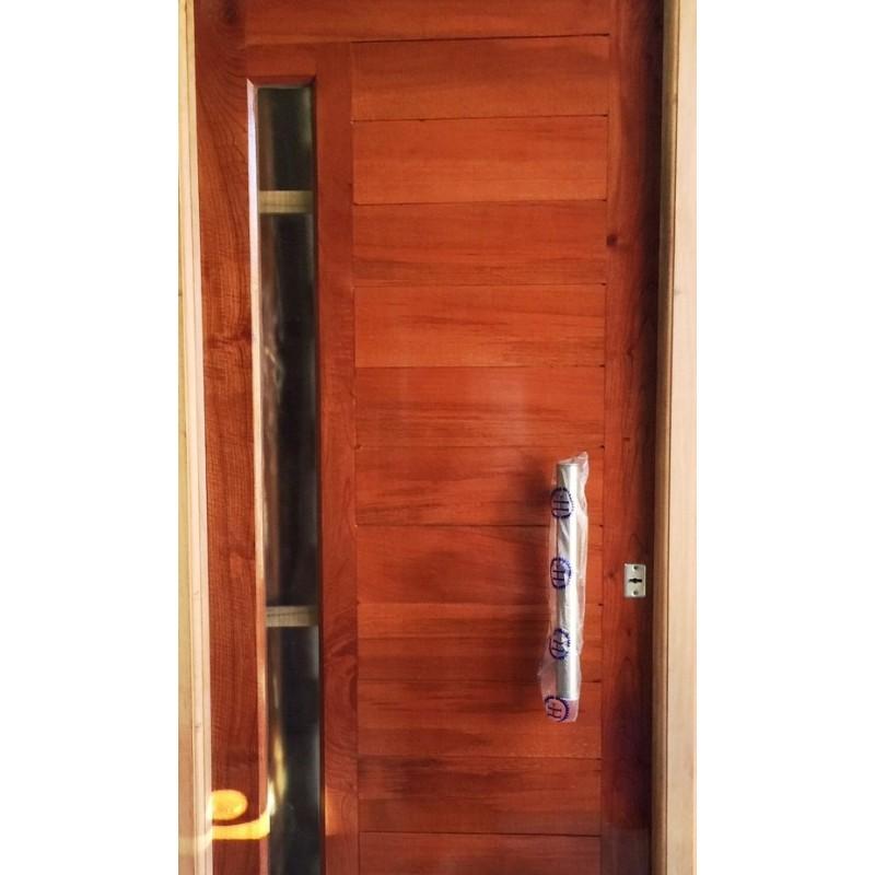 Puerta madera cedro frente 80x200 cm pesada barral for Remate de puertas de madera