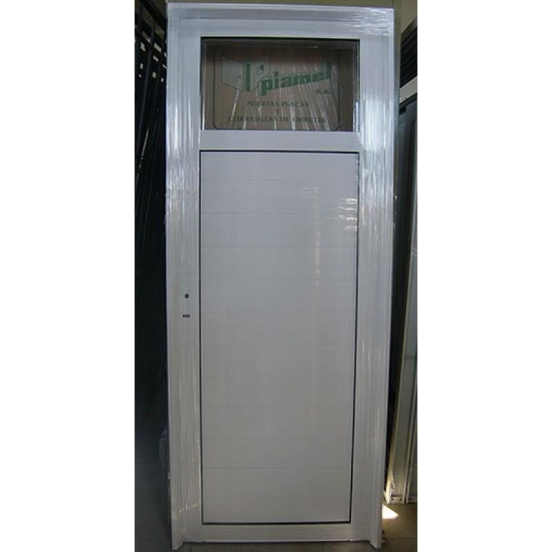 Puerta aluminio 1 4 vidrio entero 80x200 - Puertas de aluminio de exterior ...