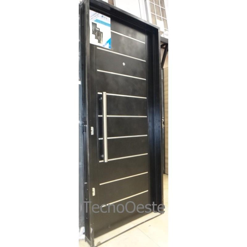 Puerta c cerrojo de seguridad inyectada 80x200 c barral - Cerrojo de seguridad para puertas ...