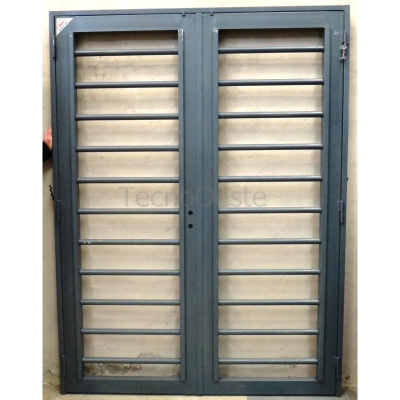 Puerta reja tubos horizontales 150x200 c marco c cerradura Puerta balcon aluminio medidas