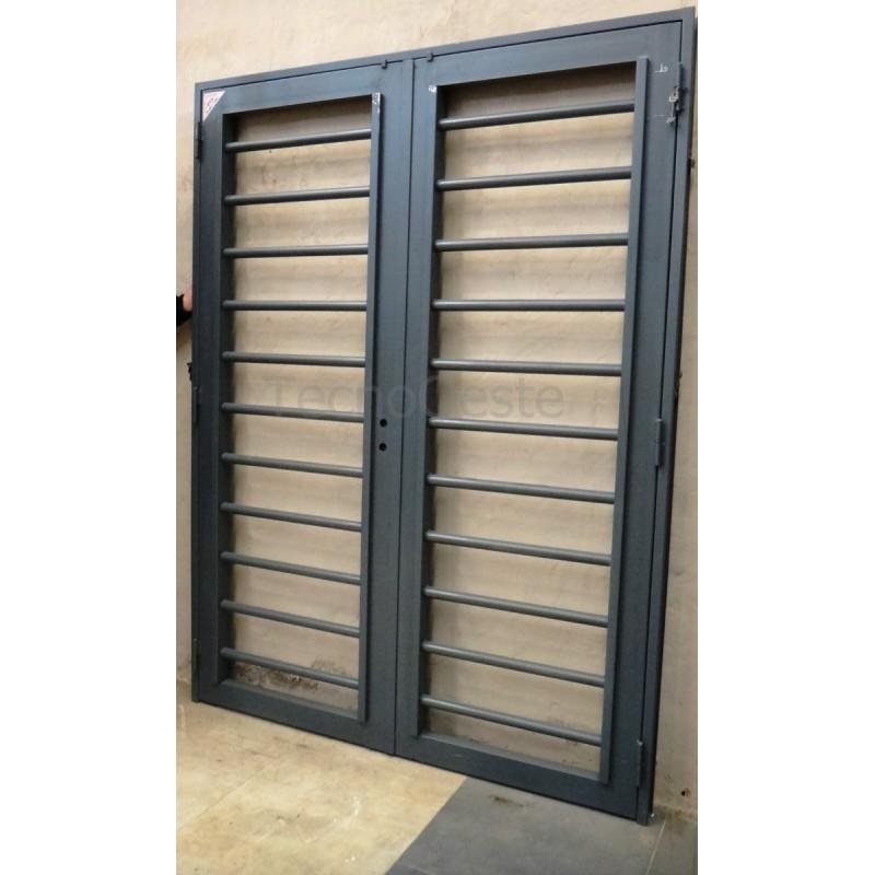 Puerta reja tubos horizontales 150x200 c marco c cerradura - Puertas de hierro exterior ...