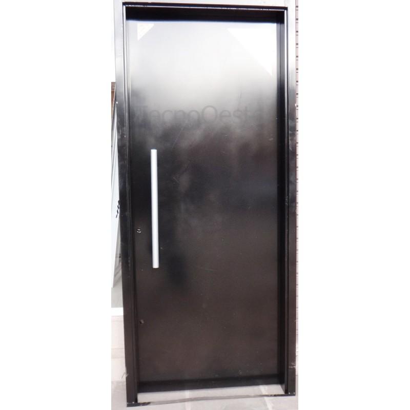 Puerta seguridad bunker con cerrojo 100 chapa 18 for Puertas seguridad