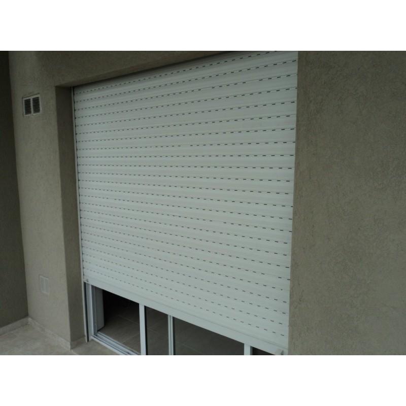 Puerta ventana balcon aluminio blanco 150x200 c guia cortina - Guia de aluminio ...