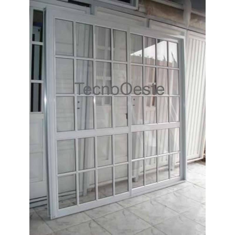 puerta ventana balcn x vidrio repartido
