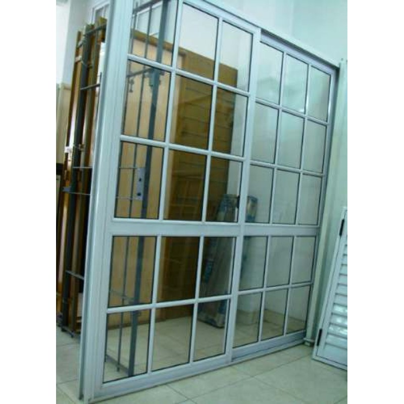 Puerta ventana balc n 180x200 vidrio repartido for Puerta balcon pvc