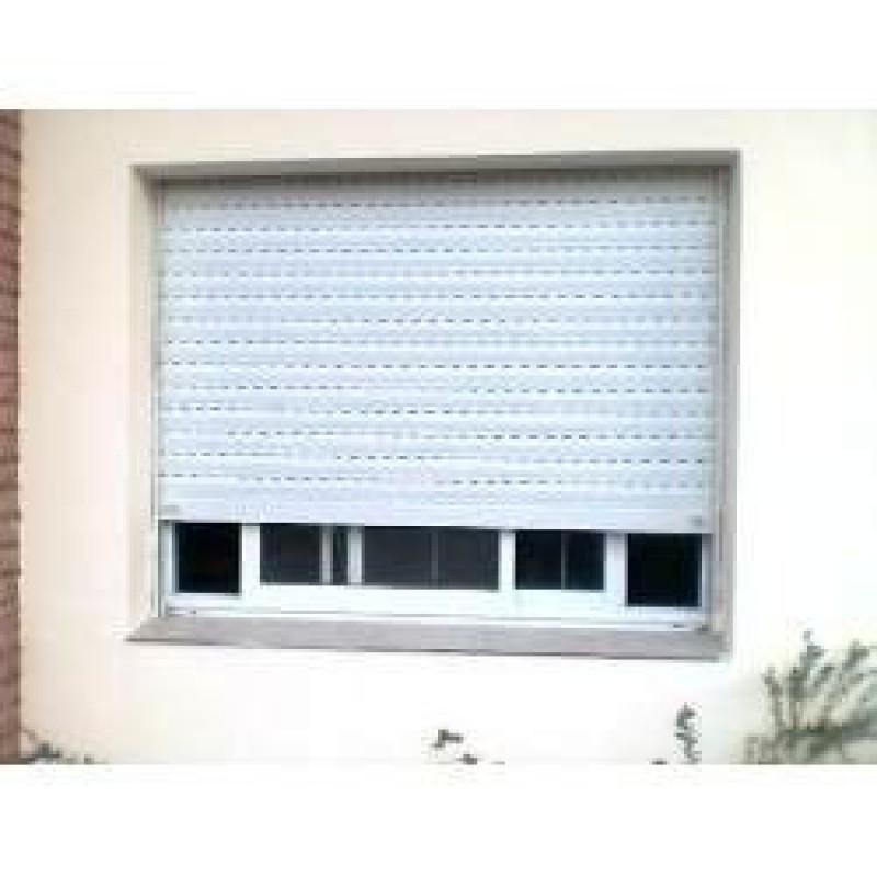 ventana aluminio blanco x con vidrio gua y cortina de pvc reforzada