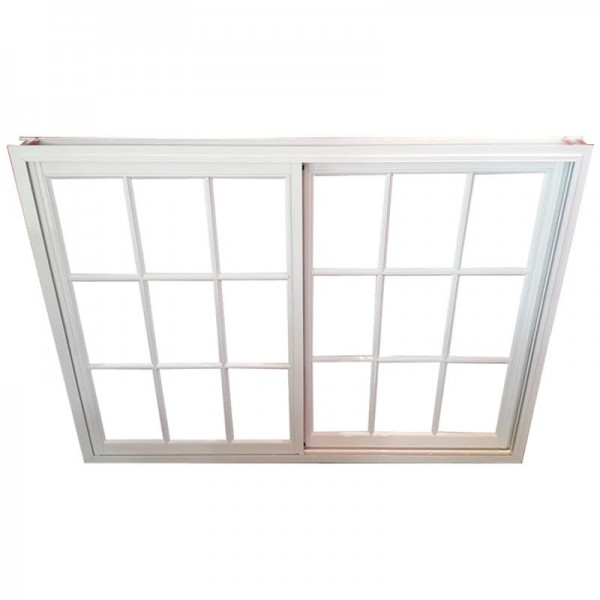 Ventana aluminio blanco vidrio repartido 180x110 con vidrio for Ver ventanas de aluminio blanco