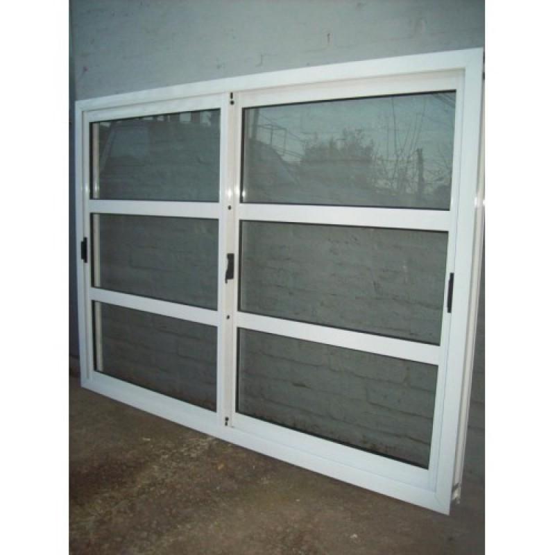 Ventana aluminio blanco repartido horizontal 150x110 for Mosquiteros de aluminio