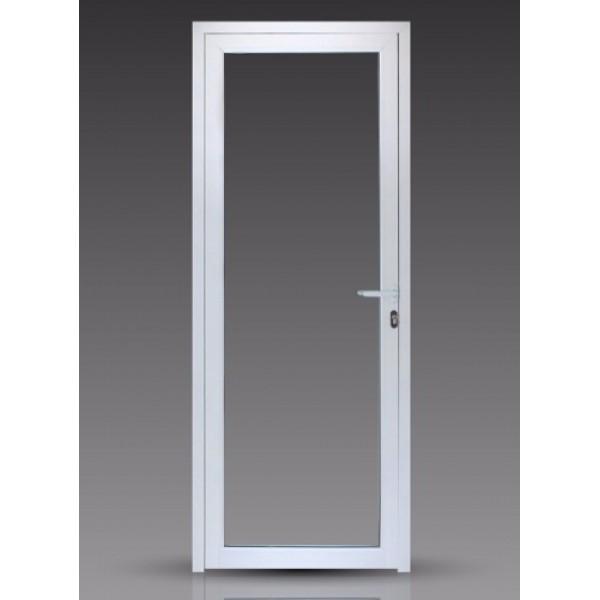 Puerta 80x200 cm modena vidrio entero for Puertas de aluminio con cristal