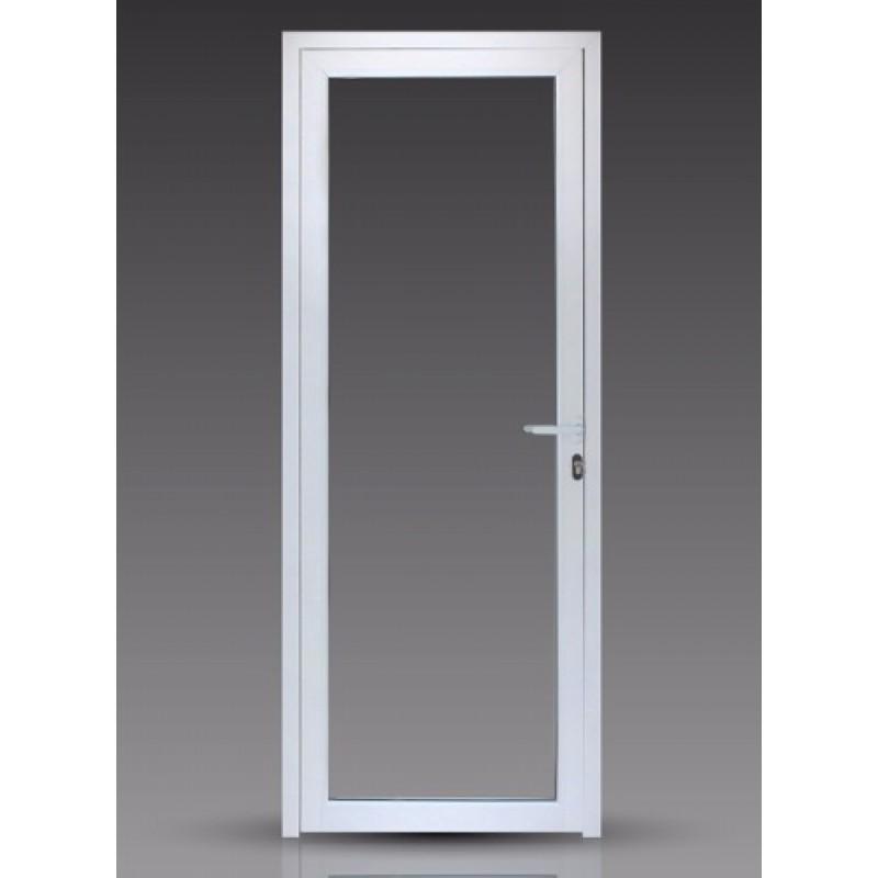Puerta 80x200 cm modena vidrio entero - Puertas en aluminio y vidrio ...