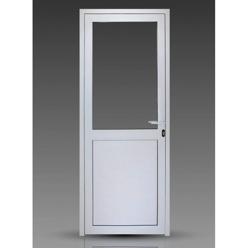 Puerta 80x200 cm modena 1 2 vidrio entero con doble vidrio for Fabrica de puertas de aluminio