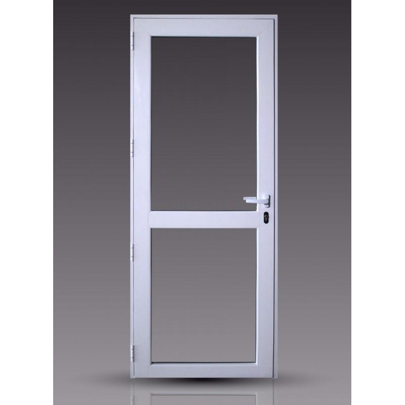 Puerta 80x200 cm modena vidrio entero con travesa o y for Puertas con vidrio y madera