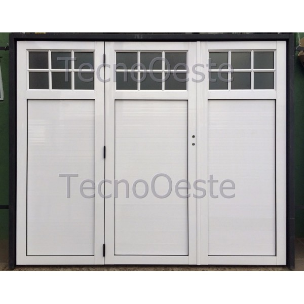 Porton levadizo manual Hojas de aluminio y marco chapa 14.