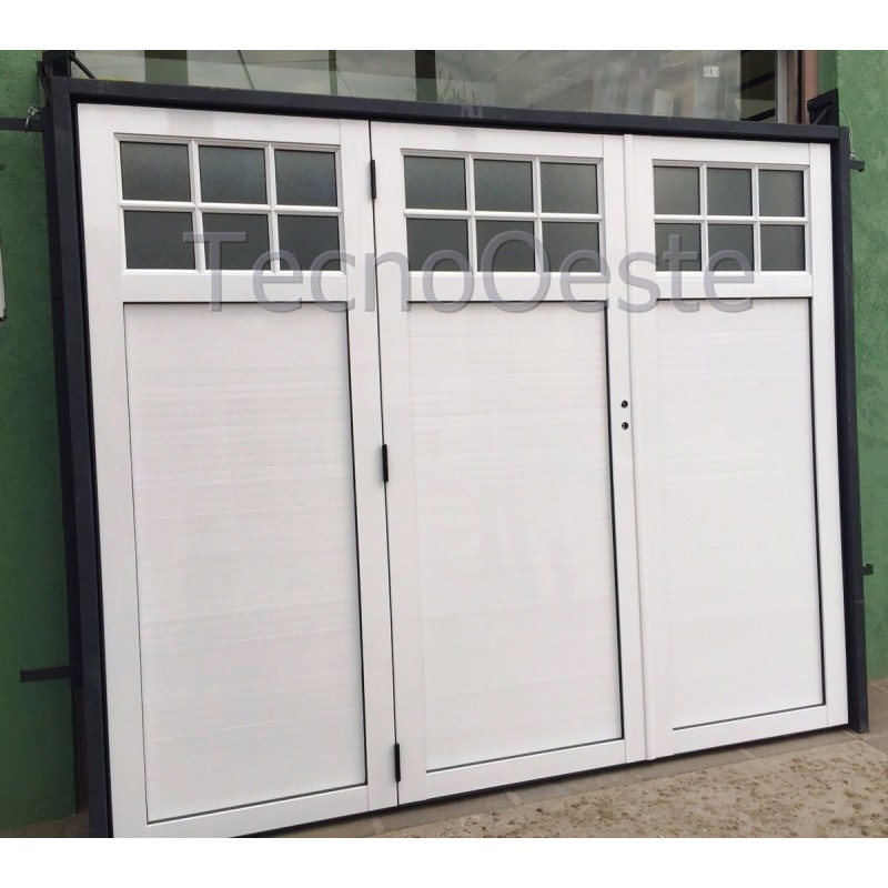 Porton levadizo manual hojas de aluminio y marco chapa 14 - Porton de garaje ...