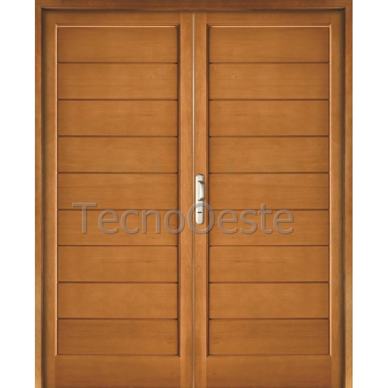 Puerta doble 2311 madera grandis oblak for Puertas doble hoja interior madera