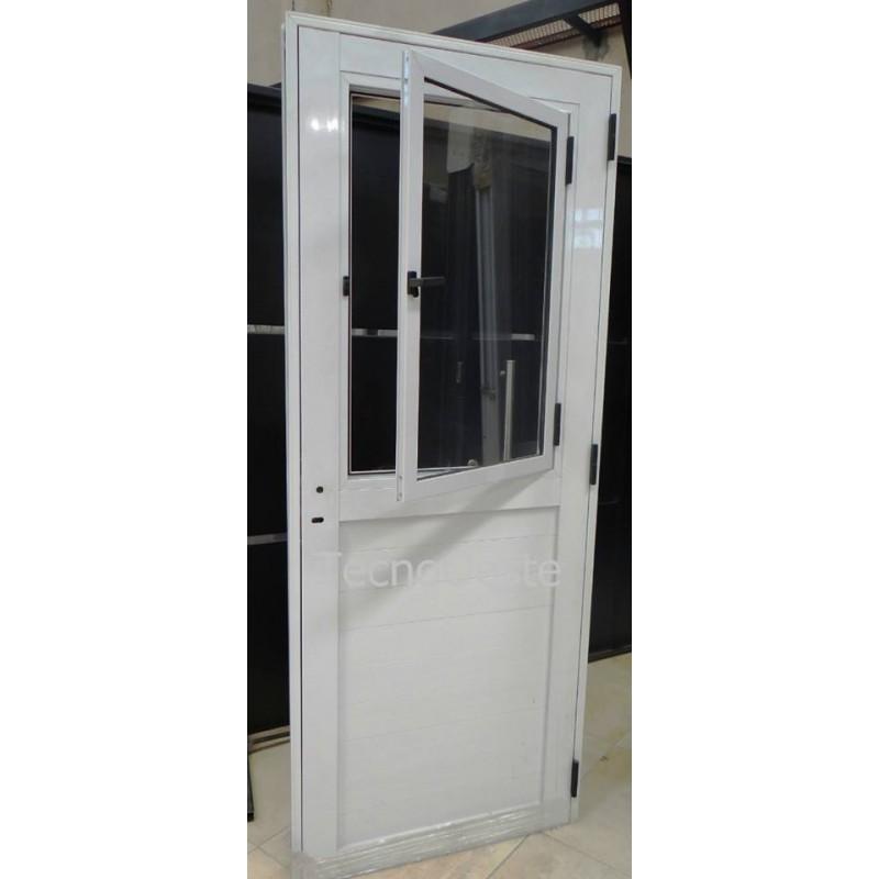 Puerta de aluminio con vidrio puerta aluminio x vidrio - Vidrios para puertas ...